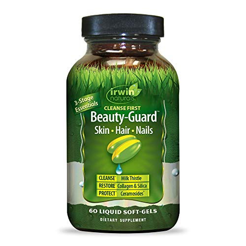 Irwin Naturals Cleanse First Beauty-Guard Essentail Nutrient Support for Healthy Liver Function - Detox, Hydrate & Restore with Milk Thistle, Dandelion, Collagen & Vitamin A, C, E - 60 Liquid Softgels