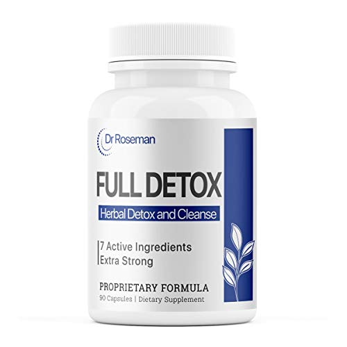 Dr.Roseman Full Detox Pills - Complete Body Cleanse - Natural, Healthy Cleansing Support for Liver, Urinary Tract, Kidney, Digestive System - 5X Strength - 90 Capsules