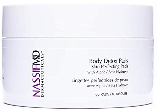 NassifMD Body Detox Pads - Body & Facial Wipes to Help Reduce Pores, Brighten and Smooth Skin (60 count)