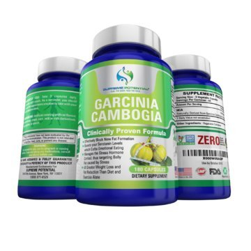 Appetite Suppressant - Garcinia Cambogia by SUPREME POTENTIAL - Eat Less and Lose Weight - All Natural, Non-stimulating Formula - 100% Nobel Pure HCA Extract - Weight Loss Pills
