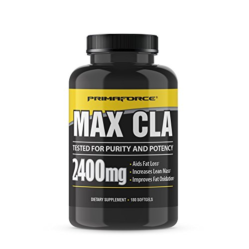 PrimaForce Max CLA 2400 Conjugated Linoleic Acid Supplement, 180 Count Softgels – Aids Fat Loss/Increases Lean Mass/Improves Fat Oxidation