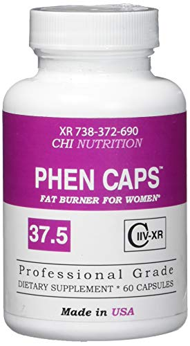 PHEN CAPS 37.5  For Women - Premium Appettite Suppressant for Weight Loss for Women - Thermogenic Fat Burner Supplement - Energy Pills - Carbohydrate Blocker - Metabolism Booster - Keto Diet Friendly