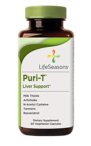 LifeSeasons - Puri-T - Liver Support and Cleanse Supplement - Support Stamina - Supports Liver Tissue and Aids in Healthy Bile Flow - Contains Artichoke, Turmeric, and Milk Thistle - 60 Capsules