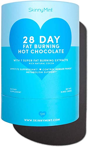 SkinnyMint Fat Blasting Hot Chocolate. Keto Diet Drink. Appetite Suppressant for Weight Loss. Sugar Free, Vegan and Low Carb (28 Packets)