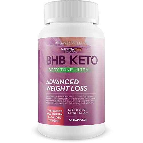 Bhb Keto Bodytone Advanced Weight Loss Ultra - Burn More Fat and Lose More Weight with Keto Body Tone Diet Pills - Burn Fat Faster with Faster Ketosis - Keto Bhb Exogenous Ketones Bhb Capsules