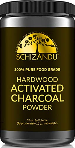 Schizandu Organics Activated Hardwood Charcoal Powder, Vegan 100% Pure Detox | Use for Skin & Body Detoxification, Teeth Whitening, Digestive Health, Hangover Prevention