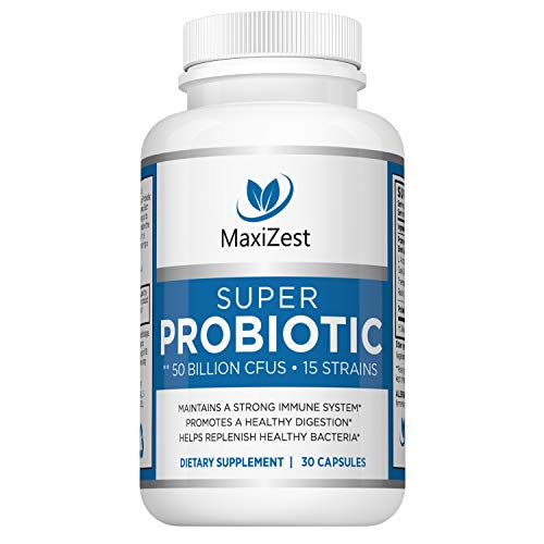 Best Daily Probiotics for Women and Weight Loss and Men – with Acidophilus & Prebiotics FOS - Digestive Health Advantage Capsules - No Refrigeration Needed - Promotes Weight Loss, Constipation Relief