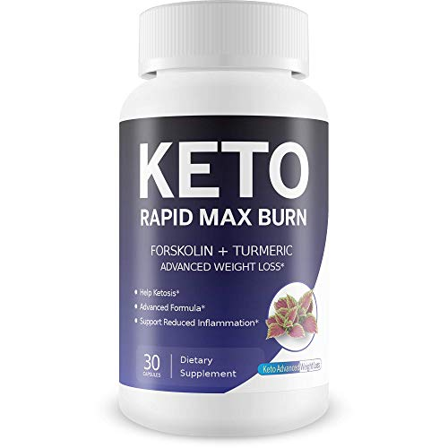 Keto Rapid Max Burn - Advanced Weight Loss 2 Pack - Forskolin Boosted with Turmeric for Extra Diet Power - Reduce Appetite - Release Fat Stores - Burn More Fat - Break Down Fat Faster - Block Fat