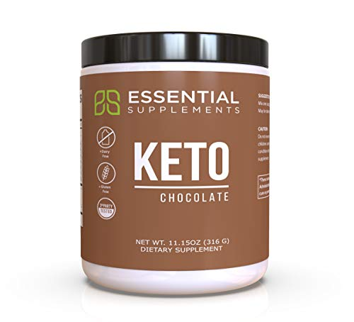 Essential Supplements Exogenous Ketones Keto BHB Chocolate Powder for Ketogenic Diet | Supports Weight Loss, Energy, Focus and Ketosis | Beta-Hydroxybutyrate Ketone Supplement