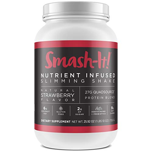 Primal Labs Smash-It! Whey Protein Powder, Gluten-Free Keto Protein Powder, Non-GMO Protein Shakes for Weight Loss, Meal Replacement Shakes in Delicious Strawberry Flavor, 780 Grams