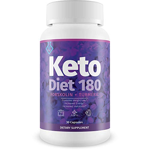 Keto Diet 180 Forkolin + Turmeric - Help Release Fat Stores and Block Fat Absorption - Lose Weight Faster - The Weight Loss Power Combo of Forskolin + Turmeric - SF Keto Choice Labs Keto Diet Pills