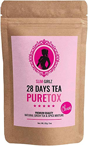 Slim Girlz 28 Days Detox Tea   for Women   Weight Loss   Slimming and Cleanse Tea   Diet and Fat Loss Tea   85g Loose Leaf Tea   Natural Dietary Supplement   Without Additives   Active Herbal Complex