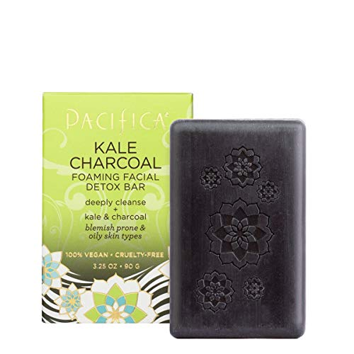 Pacifica Beauty Kale Charcoal Foaming Facial Detox Bar, 3.25 Ounce