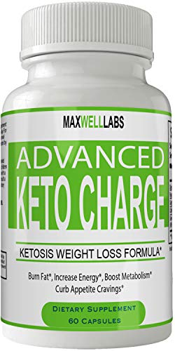 Keto Charge Advanced Weight Loss Plus Pills Keto Diet Capsules, Advanced Thermal Ketogenic Weight Loss Formula