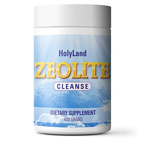 HolyLand Zeolite Cleanse – Safe & Effective Detox Cleanse Powder – Supports Natural Energy, Mental Focus, Immune Defense, Optimal Gut Health & Balanced pH (1 to 3 Mo Supply, 400 Grams)