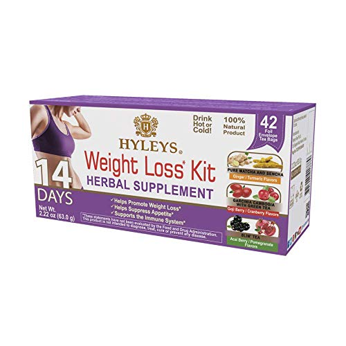 Hyleys 14 Days Weight Loss Kit - 42 Tea Bags (100% Natural, Sugar Free, Gluten Free and Non-GMO)