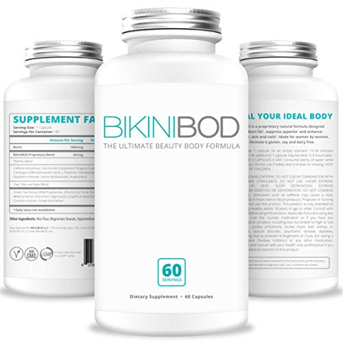 BikiniBOD Weight Loss Pills for Women - Premium Vegan Fast Weight Loss Supplement for Women | Appetite Suppressant Diet Pill | Thermogenic Fat Burner | Works with Keto Diet | 30-Day Supply
