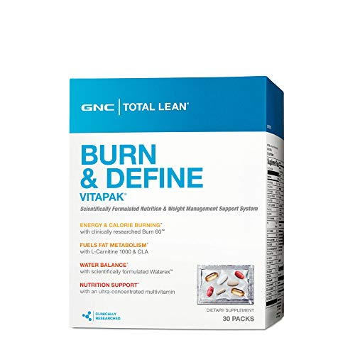 GNC Total Lean Burn and Define Vitapak, 30 Packs