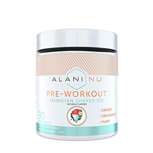 Alani Nu Pre-Workout Supplement Powder for Energy, Endurance, and Pump, Hawaiian Shaved Ice, 30 Servings