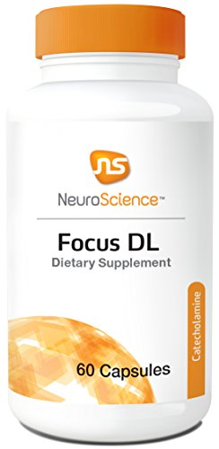 NeuroScience Focus DL - Cognitive Support for Adults & Children, 1000 mg Phenylalanine as DLPA, Dopamine Precursor, Gluten & Soy Free (60 Capsules)