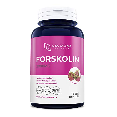Premium Forskolin Capsules for Weight Loss, Energy Boost, and More: Belly Buster Fat Burner - Super Strength, Non-GMO, and Gluten-Free – 2000 mg/Cap, 180 Capsules