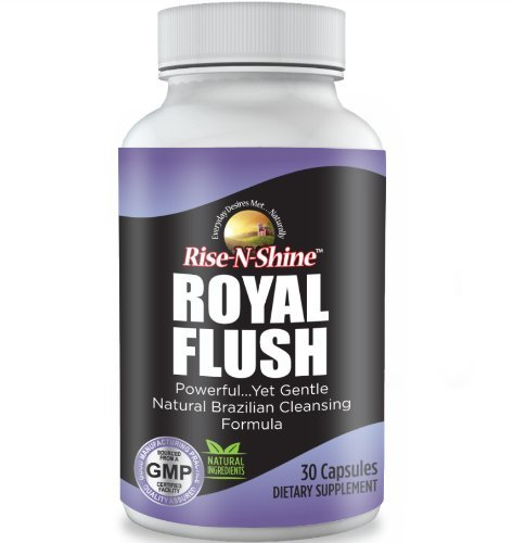 Royal Flush Colon Cleanse Natural Colon Cleanser and Detox for Weight Loss and Healthy Digestive System with Senna Leaves, Black Walnut Hulls,Bentonite Clay and More 30 Count