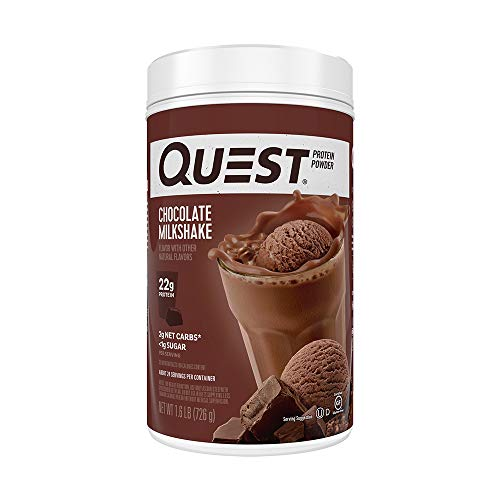 Quest Nutrition Chocolate Milkshake Protein Powder, High Protein, Low Carb, Gluten Free, Soy Free, 25.6 Ounce (Pack of 1)