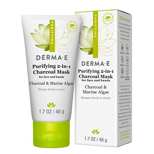 derma e Purifying 2-in-1 Charcoal Face Mask with Activated Charcoal, 1.7 Oz