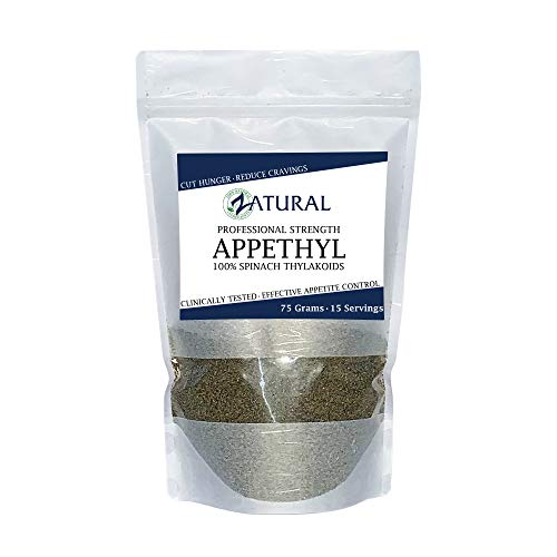 Appethyl Energy Powder, Pure Spinach Extract - Reduced Cravings, Healthy Dose of Green - 75gram