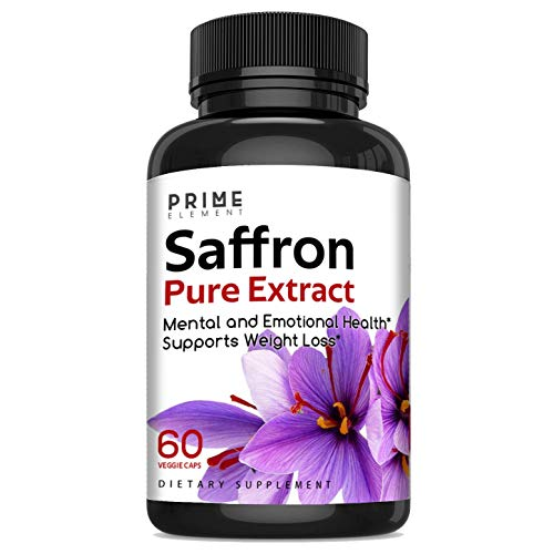 Pure Saffron Extract Capsules - Crocus Sativus, Mental Health, Supports weight loss, Antioxidant - 60 Caps