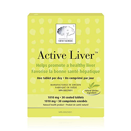 New Nordic Active Liver, 30 Tablets Daily Liver Detoxifier and Regenerator with Milk Thistle Extract, Artichoke Extract and Turmeric