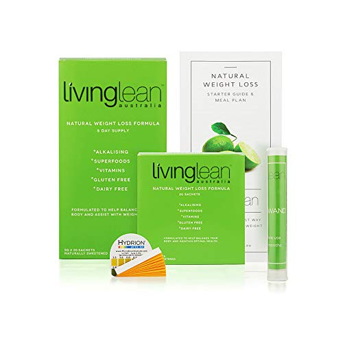 Living Lean Detox Cleanse Immunity Kit for 5 Days - Vegan Natural Organic - Alkaline Your Body for Sustainable Weight Loss & Digestion - Colon, Kidney, Liver & Bowel Cleanser - High Strength