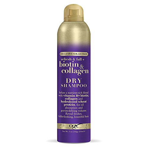 OGX Exclusive Collection Refresh & Full + Biotin & Collagen Dry Shampoo, 5 Ounce (64061)
