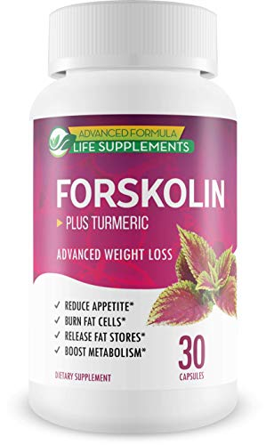 Forskolin Advanced Weight Loss - Advanced Formula - Plus Turmeric - Turmeric + Forskolin Weight Loss - Help Your Body Break Down and Metabolize Fat While Helping Appetite and Boosting Metabolism