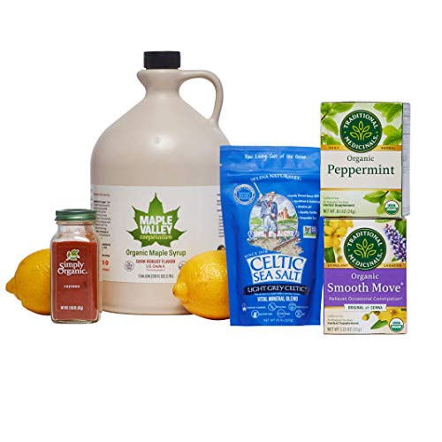 Maple Valley Organic Master Cleanse Lemonade Detox/Kit 16 Day Kit Without Book