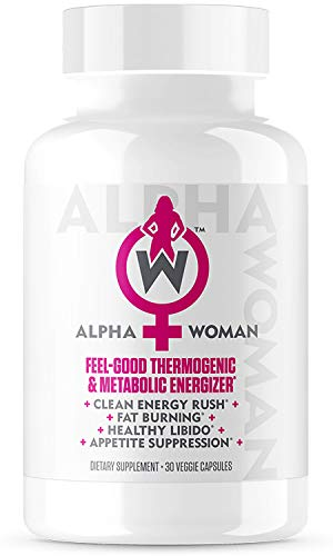 ALPHA WOMAN - Weight Loss Supplement, 4-in-1 Thermogenic Energizer, Appetite Suppressant & Mood Enhancer, 30 Veggie Capsules