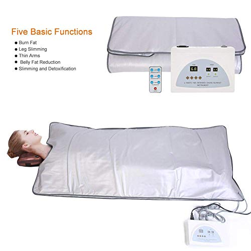 ETE ETMATE Body Shaper Weight Loss Far Infrared Sauna Blanket, 2 Zone Controller Professional Detox Therapy Anti Ageing Beauty Machine Body Fitness Machine