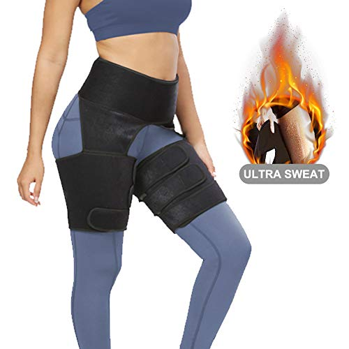 AUGOLA 3-in-1 Waist Trainer Thigh Trimmer for Women,Tummy Control Waist Cincher Corset Body Shaper with Adjustable Belt Shapewear for Loss-Weight,Workout, Fitness, Training
