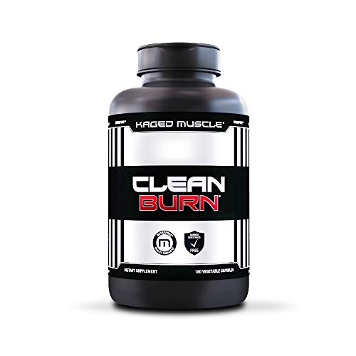 Non-Stimulant Metabolism Booster & Weight Loss Pills for Men & Women, Kaged Muscle Clean Burn Weight Loss Supplement with Green Tea & Carnitine to Help You Get Ripped, 180 Veggie Caps
