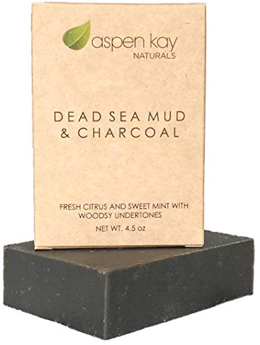 Dead Sea Mud Soap Bar Natural & Organic Ingredients. With Activated Charcoal & Therapeutic Grade Essential Oils. Face Soap or Body Soap. For Men, Women & Teens. Chemical Free. 4.5 oz Bar