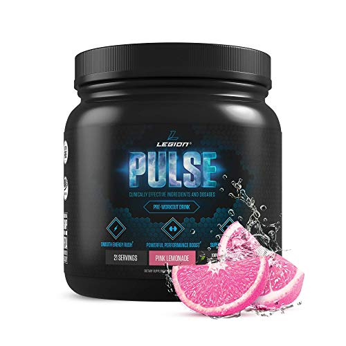 Legion Pulse, Best Natural Pre Workout Supplement for Women and Men – Powerful Nitric Oxide Pre Workout, Effective Pre Workout for Weight Loss, Top Pre Workout Energy Powder (Pink Lemonade)