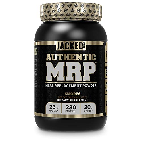 Authentic MRP Meal Replacement Powder - Premium Shake for Lean Muscle Growth & Recovery w/Real Complex Carbohydrates, Whey Protein Isolate, Healthy Fats fr MCT - Whole Food Supplement, Smores Flavor