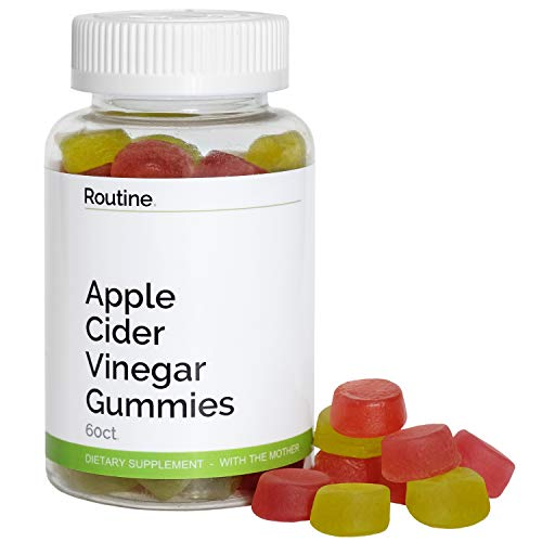 Routine Apple Cider Vinegar Gummies (with The Mother) - Detox, Reduce Bloating, and Improve Gut Health and Energy - All Natural and Delicious ACV Vitamin Gummy for Weight Loss and Keto Cleanse | 60 CT