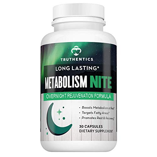 TRUTHENTICS Metabolism Night Time Energy A Healthy Metabolism Support Formula - Promotes Muscle Recovery & Restful Sleep, PM Amino Acid Supplement All Natural Stimulant Free Ingredients - Women & Men