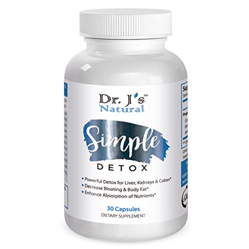 Dr Js Natural Simple Detox - Cleanses Liver, Gradually Increases Energy Levels and Supports in Healthy Weight Loss. 30 Days Supply. 100% Natural Supplements.