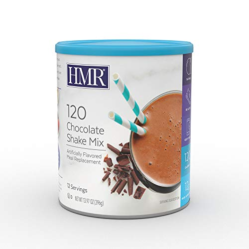 HMR 120 Chocolate Shake Meal Replacement Powder, 12g Protein, 120 Cal., Canister of 12 Servings