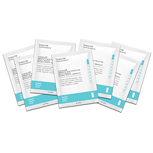 Odacité - Synergie 4, Immediate Skin Perfecting Beauty Masque, Sachet Box Travel Packets, Face Mask Travel Packets, Facial Mask with Clay & Charcoal, Clay Mask Detox and Brighten, 1.75 oz (7 Pack)