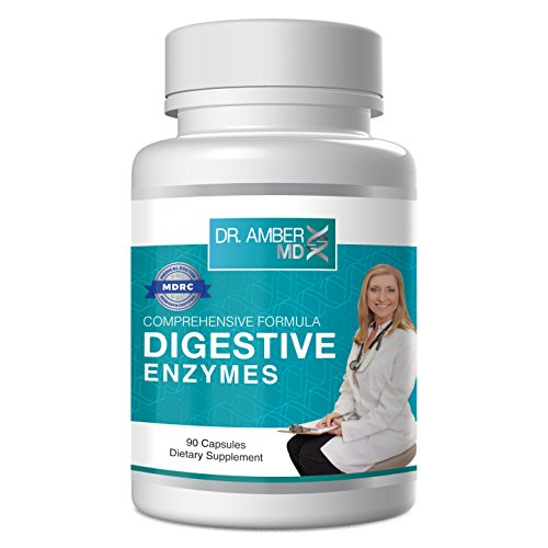 Digestive Enzyme Supplement for Women - by Dr. Amber MD - Enzyme Supplements for Better Digestion - 90 Capsules
