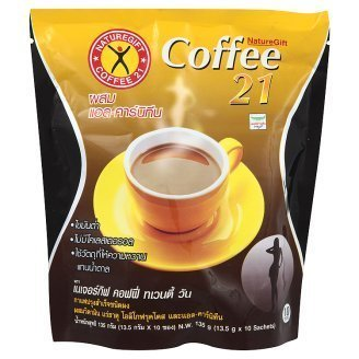 Danai Presents.4 Packs X Naturegift Instant Coffee Mix 21 Plus L-carnitine Slimming Weight Loss Diet Made in Thailand