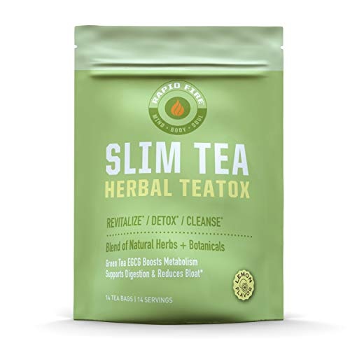 Rapid Fire SlimTea 14-Day Herbal Teatox, Blend of 14 Natural Herbs and Botanicals for Weight Loss, 14 Servings